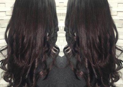 Deep Plum Hair Color