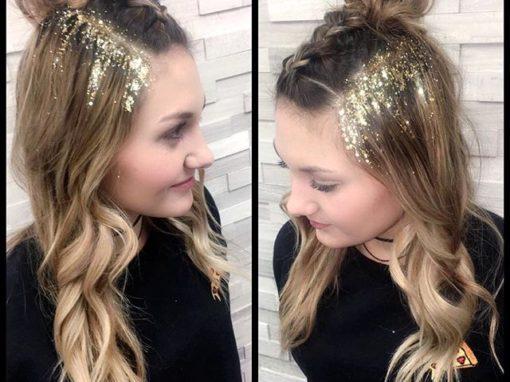Glitter Glam Hair