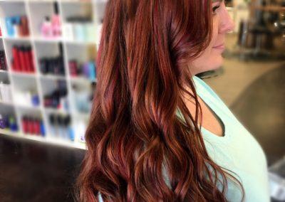 Burgundy on Fire Hair Color