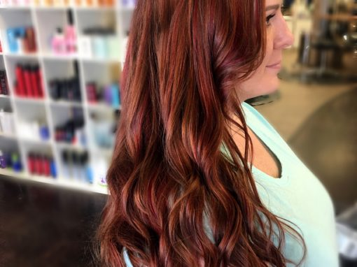 Burgundy on Fire Hair Color